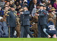 Football - 2016 / 2017 Premier League - Tottenham Hotspur vs. Leicester City<br /> <br /> members of the armed services prepare for the sounding of the last post in memory of fallen comrades  from various conflicts at White Hart Lane.<br /> <br /> COLORSPORT/DANIEL BEARHAM
