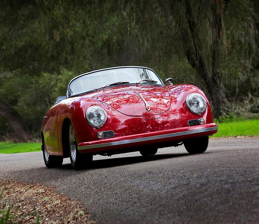 Image of a Red 1958 Porsche 356 Carrera Speedster GT in California, America west coast by Randy Wells