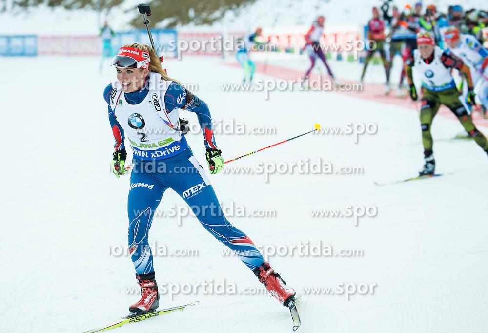 Gabriela Soukalova (CZE)  during Women 12.5 km Mass Start at day 4 of IBU Biathlon World Cup 2015/16 Pokljuka, on December 20, 2015 in Rudno polje, Pokljuka, Slovenia. Photo by Vid Ponikvar / Sportida