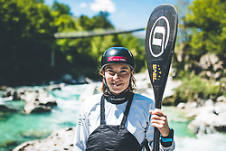 Eva Tercelj during her Covid-19 restrictions practice session in Trnovo ob Soci, Bovec on 7. May 2020, Slovenia. Photo By Grega Valancic / Sportida