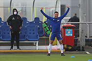 Cove Rangers Leighton McIntosh (11) warms up ahead of  the Betfred Scottish League Cup match between Cove Rangers and Hibernian at Balmoral Stadium, Aberdeen, Scotland on 10 October 2020.