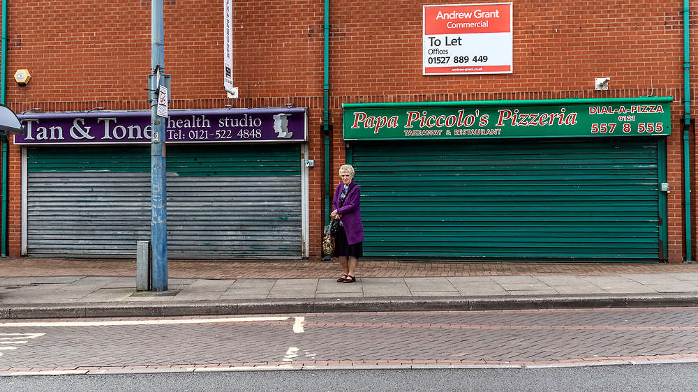 Eldery women, Tipton in the borough of Sandwell, West Midlands.