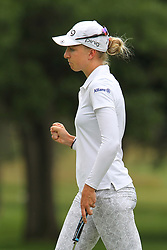 June 16, 2018 - Belmont, Michigan, United States - Sophia Popov of Heidelberg, Germany reacts after putting on the 16th green during the third round of the Meijer LPGA Classic golf tournament at Blythefield Country Club in Belmont, MI, USA  Saturday, June 16, 2018. (Credit Image: © Amy Lemus/NurPhoto via ZUMA Press)