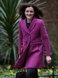 © Licensed to London News Pictures. 24/11/2015. London, UK.  Theresa Villiers, Secretary of State for Northern Ireland, arrives for a cabinet meeting in Downing Street. Photo credit: Peter Macdiarmid/LNP