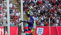 Football - 2018 International Friendly (pre-World Cup warm-up) - England vs. Nigeria<br /> <br /> Francis Uzoho (Nigeria) dives to his left at Wembley Stadium.<br /> <br /> COLORSPORT/DANIEL BEARHAM