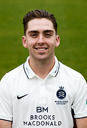 Middlesex's Tom Lace  during the media day at Lord's Cricket Ground, London. PRESS ASSOCIATION Photo. Picture date: Wednesday April 11, 2018. See PA story CRICKET Middlesex. Photo credit should read: John Walton/PA Wire. RESTRICTIONS: Editorial use only. No commercial use without prior written consent of the ECB. Still image use only. No moving images to emulate broadcast. No removing or obscuring of sponsor logos.