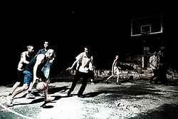 Men playing basketball. (Photo by Vid Ponikvar / Sportal Images)
