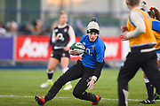 England player Emily Scarratt warms up before the match during the Women's 6 Nations match between Ireland Women and England Women at Energia Park, Dublin, Ireland on 1 February 2019.