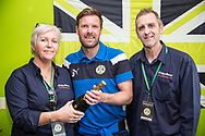 Sponsors with MOM Forest Green Rovers Scott Laird(3) during the EFL Sky Bet League 2 match between Forest Green Rovers and Chesterfield at the New Lawn, Forest Green, United Kingdom on 21 April 2018. Picture by Shane Healey.