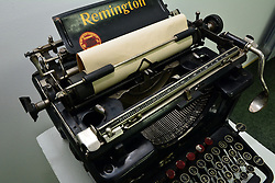 11.03.2016, Slavonski Brod, CRO, Die Remington No. 12, im Bild Die Remington No. 12, die im Jahr 1922 erschien, verkörpert jede Remington. Vierzehn Lärm reduzierende Eigenschaften wurden eingeführt. Die Nummer 12 hat eine verbesserte Hemmung, Typ Stegkonstruktion, Farbbandmechanismus und Verfeinerungen der Konstruktion über die gesamten Maschinen. // The Remington No. 12, which appeared on the market in 1922, embodies every Remington advantage, plus quiet action. Fourteen noise reducing features were introduced. The No. 12 has an improved escapement, type bar construction, ribbon mechanism and refinements of construction throughout the entire machines. It also has the frame enclosed to keep out dust and dirt Slavonski Brod, Croatia on 2016/03/11. EXPA Pictures © 2016, PhotoCredit: EXPA/ Pixsell/ Ivica Galovic<br /> <br /> *****ATTENTION - for AUT, SLO, SUI, SWE, ITA, FRA only*****