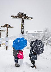 THEMENBILD - Neuschneesituation in Lienz, aufgenommen am Samstag, 5. Dezember 2020, in Osttirol. Der Winter macht sich in Teilen Österreichs mit enormen Schnee- und Regenmengen bemerkbar. In Osttirol und Oberkärnten ist von Freitag auf Samstag die Schneedecke um rund 50 bis 70 Zentimeter gewachsen. Mancherorts herrschte rote und damit höchste Wetterwarnung // New snow situation in Lienz, taken on Saturday, December 5, 2020, in East Tyrol. The winter is making itself felt in parts of Austria with enormous amounts of snow and rain. In East Tyrol and Upper Carinthia, the snow cover has grown by about 50 to 70 centimeters from Friday to Saturday. In some places there were red and therefore highest weather warnings. EXPA Pictures © 2020, PhotoCredit: EXPA/ Johann Groder