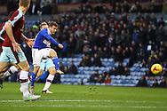 Ryan Fraser of Ipswich Town shoots just wide of the goal. Skybet football league Championship match, Burnley v Ipswich Town at Turf Moor in Burnley, Lancs on Saturday 2nd January 2016.<br /> pic by Chris Stading, Andrew Orchard sports photography.
