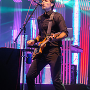 COLUMBIA, MD - June 18th, 2013 - Ben Gibbard of the Postal Service performs at Merriweather Post Pavilion in Columbia, MD on their 10th Anniversary Give Up tour. (Photo by Kyle Gustafson)