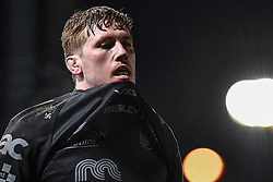 Matthew Screech of Dragons leaves the field after the dragons are defeated by zebre<br /> <br /> Photographer Craig Thomas/Replay Images<br /> <br /> Guinness PRO14 Round 7 - Dragons v Zebre - Saturday 30th November 2019 - Rodney Parade - Newport<br /> <br /> World Copyright © Replay Images . All rights reserved. info@replayimages.co.uk - http://replayimages.co.uk