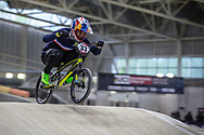 #33 (DAUDET Joris) FRA during practice at the 2019 UCI BMX Supercross World Cup in Manchester, Great Britain