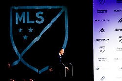 January 11, 2019 - Chicago, IL, U.S. - CHICAGO, IL - JANUARY 11: Andre Shinyashiki is selected as the number five overall pick to the Colorado Rapids in the first round of the MLS SuperDraft on January 11, 2019, at McCormick Place in Chicago, IL. (Photo by Patrick Gorski/Icon Sportswire) (Credit Image: © Patrick Gorski/Icon SMI via ZUMA Press)