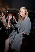 GWENDOLINE CHRISTIE, The afterparty following the press night of 'Breakfast At Tiffany's' The Swimming pool,  Haymarket Hotel, London. September 29  2009.