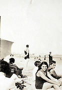 relaxing at the beach 1927