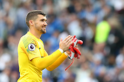 Brighton & Hove Albion goalkeeper Mathew Ryan celebrates after the final whistle during the Premier League match at the AMEX Stadium, Brighton.