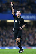 Referee Robert Madley looks on. Premier league match, Chelsea v Stoke city at Stamford Bridge in London on Saturday 31st December 2016.<br /> pic by John Patrick Fletcher, Andrew Orchard sports photography.