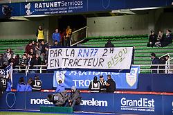 October 1, 2018 - Troyes, France - ILLUSTRATION - SUPPORTERS - BANDEROLE (Credit Image: © Panoramic via ZUMA Press)