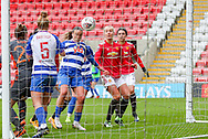 GOAL Reading midfielder Natasha Harding (11) heads to make it 1-0 during the FA Women's Super League match between Manchester United Women and Reading LFC at Leigh Sports Village, Leigh, United Kingdom on 7 February 2021.