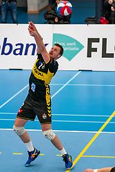 Jeroen Rauwerink #2 of Dynamo in action in the second round between Sliedrecht Sport and Draisma Dynamo on February 29, 2020 in sports hall de Basis, Sliedrecht