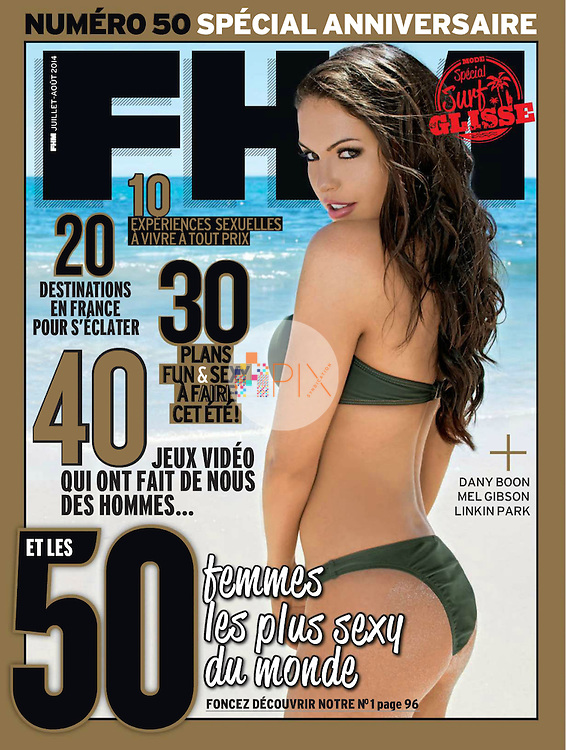 Aussie swimsuit model Jessica Cribbon is the latest cover girl for FHM France, illustrating their '50 Sexiest Women in the World' issue.  <br /> <br /> Image from our shoot 'Jessica Cribbon :: beach babe', which is model released for all uses worldwide: http://www.apixsyndication.com/gallery/Jessica-Cribbon-beach-babe/G0000kMfkEDs9Oek/C0000p3oEgz0cFlM