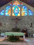 Catholic Church, Vaitahu Village, Tahuata, Marquesas; French Polynesia; South Pacific