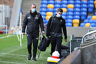 AFC Wimbledon coach Mark Robinson arriving for the game wearing face mask during the EFL Sky Bet League 1 match between AFC Wimbledon and Milton Keynes Dons at Plough Lane, London, United Kingdom on 30 January 2021.