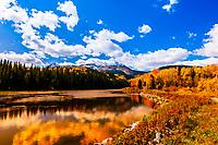 Woods Lake, Fall Creek Road, Uncompahgre Wilderness, near Telluride, Colorado USA.