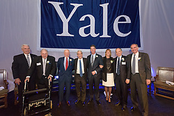 2015 Award Recipients Group Photograph. Yale Athletics Blue Leadership Ball & George H.W. Bush '48 Lifetime of Leadership Awards. 20 November 2015 at the William K. Lanman Center, Payne Whitney Gymnasium, Yale University.