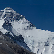 Massive panorama of the North Face of Mount Everest, Tibet, as seen from Rongbuk Basecamp, Tibet, China.<br />