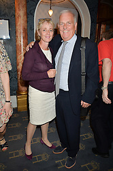 KELVIN MacKENZIE and his wife SARAH at the opening night of Breakfast at Tiffany's at The Theatre Royal, Haymarket, London on 26th July 2016.