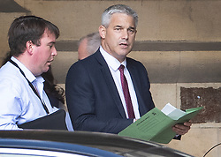 © Licensed to London News Pictures. 03/09/2019. London, UK. Secretary of State for Exiting the European Union Steve Barclay walks to The House of Commons. Parliament is returning from the summer recess today with MPs expected to try to stop a no-deal Brexit. Prime Minister Boris Johnson has threatened to hold a snap election if the legislation is passed. Photo credit: Peter Macdiarmid/LNP