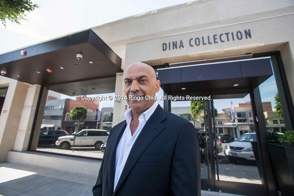 Yossi Dina, owner of Dina Collection.<br /> (Photo by Ringo Chiu/PHOTOFORMULA.com)