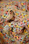 Fortaleza_CE, Brasil...Complexo artesanal de Aquiraz. Rendas e rendeiras, utilizando a tecnica dos 30 pares de birros, para tecear a tradicional Renda de Bilros em Fortaleza, Ceara...the Craft Center Rendeiras of Aquiraz has the wonderful work of womens lace Aquiraz in the form of bobbin lace, embroidery, crochet, cross stitch richilieu in Fortaleza, Ceara...Foto: BRUNO MAGALHAES / NITRO