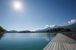 THEMENBILD - Eine Ansicht des Faaker See in Kärnten am 11. Juni 2017 in Finkenstein am Faaker See // THEMES PICTURE - The Lake Faaker See can be seen on 11 June 2017 in Finkenstein am Faaker See, Austria. EXPA Pictures © 2017, PhotoCredit: EXPA/ Erwin Scheriau