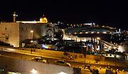 Israel, Jerusalem night photography of the Old City