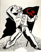 French anti-communist cartoon on the Spanish Civil War - 1936
