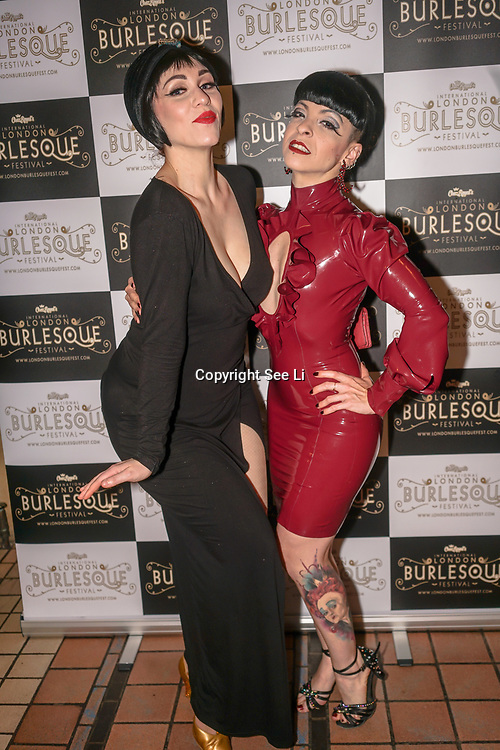 Prefomer Whisky Falls and Louise L'Amour at the London Burlesque Festival the VIP Opening Gala at Conway Hall on 18th May 2017, UK. by See Li