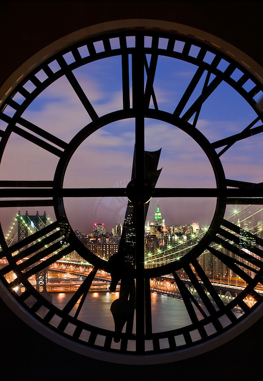 The Penthouse Clocktower in DUMBO Brooklyn at Sunset
