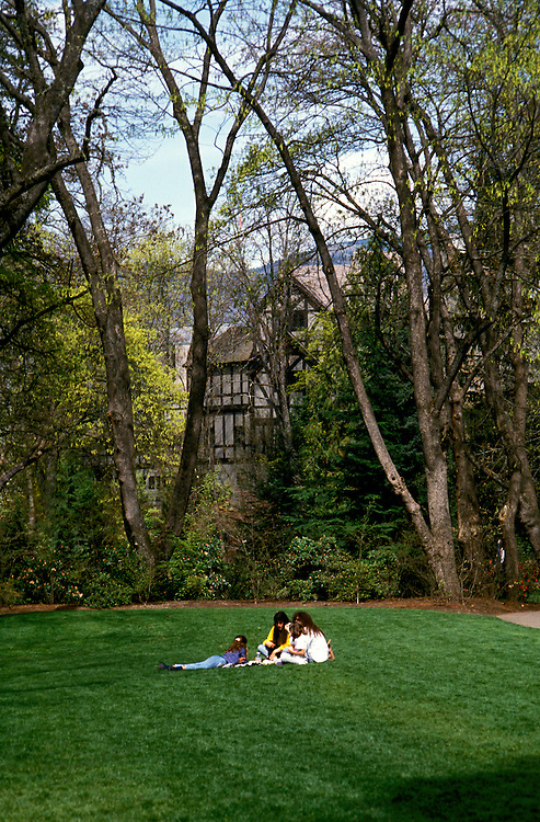 Lithia Park in Ashland, Oregon. Photo #: orrogu110.  Photo copyright Lee Foster, www.fostertravel.com, 510/549-2202, lee@fostertravel.com