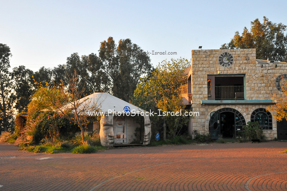 The artist's colony in Aniam. Aniam is an Israeli settlement, a moshav, located in the Golan Heights,