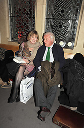 SUE CREWE and VISCOUNT NORWICH at a party to celebrate the publication of 'Past Imperfect' by Julian Fellowes held at Cadogan Hall, 5 Sloane Terrace, London SW1 on 4th November 2008.