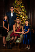 Saxonhouse family portrait.  Matt and Sherry Saxonhouse with daughters, Sophia, left, and Chloe. Photo by Wendy Yang Photography
