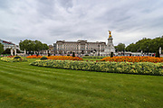 Flowers in full bloom outside of Buckingham Palace in London, Britain, May 3, 2020. Britons are now in their sixth week of lockdown due to the Coronavirus pandemic. Countries around the world are taking increased measures to stem the widespread of the SARS-CoV-2 coronavirus which causes the Covid-19 disease. (Photo/ Vudi Xhymshiti)