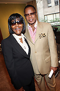 """l to r: Cicely Tyson and Stephen Byrd at b.michael America Spring 2010 Collection """" Advanced American Style """" held at Christie's in Rockefeller Plaza on September 16, 2009 in New York City."""