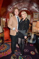 INDIA ROSE JAMES and HUGH HARRIS at an intimate performance by All Saints held at Annabel's, 44 Berkeley Square, London on 4th May 2016.
