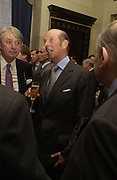 The Duke of Kent. Barbershop: Truefitt & Hill  200th anniversary Bollinger champagne breakfast. Carlton Club, 69 St James's Street, London, SW1, 27 October 2005. October 2005. ONE TIME USE ONLY - DO NOT ARCHIVE © Copyright Photograph by Dafydd Jones 66 Stockwell Park Rd. London SW9 0DA Tel 020 7733 0108 www.dafjones.com